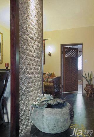 东南亚风格一居室60平米过道装修图片