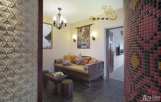 东南亚风格一居室60平米客厅沙发图片