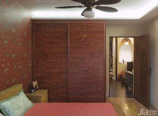东南亚风格一居室60平米卧室衣柜设计图