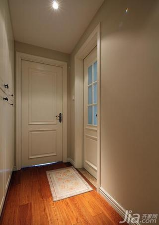 美式风格三居室110平米过道地板效果图