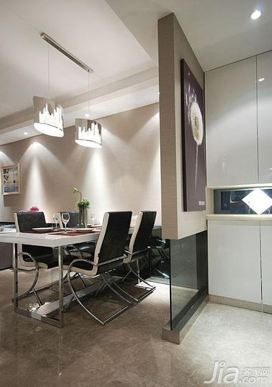 现代简约风格二居室100平米餐厅隔断玄关柜图片