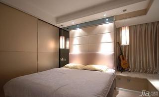 现代简约风格二居室粉色100平米卧室飘窗效果图