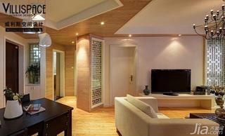 巫小伟现代简约风格二居室80平米玄关客厅过道设计