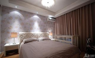 现代简约风格20万以上120平米卧室窗帘效果图