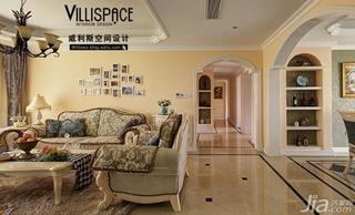 巫小伟欧式田园风格公寓140平米以上客厅客厅过道地砖效果图