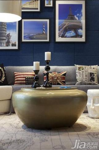 现代简约风格二居室130平米客厅沙发垫效果图