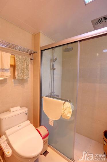 美式风格二居室100平米卫生间马桶效果图高清图片