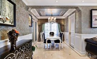 欧式风格三居室140平米以上餐厅吊顶玄关柜效果图