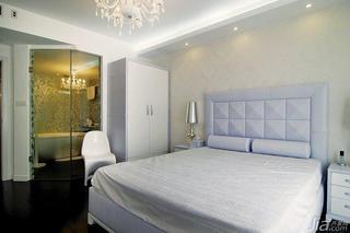新古典风格三居室130平米卧室卧室背景墙效果图