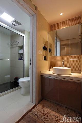 现代简约风格二居室90平米卫生间吊顶洗手台效果图
