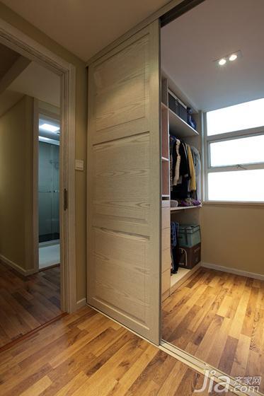 现代简约风格二居室90平米衣帽间地板图片