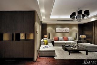 新中式风格四房富裕型客厅灯效果图