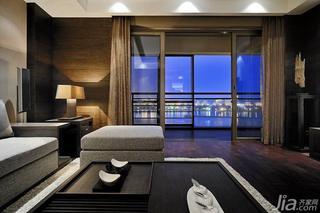 新中式风格四房富裕型阳台门客厅灯效果图