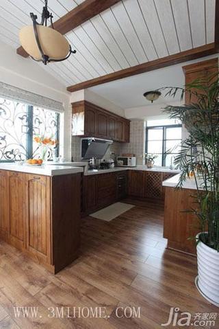 三米设计东南亚风格复式厨房吊顶装修图片