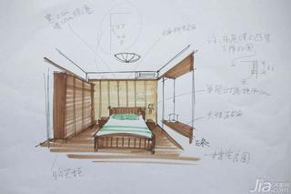 三米设计东南亚风格复式装潢