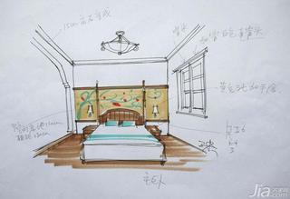 三米设计东南亚风格复式家装图片