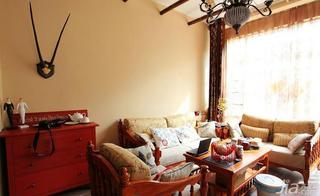 混搭风格四房沙发背景墙沙发图片