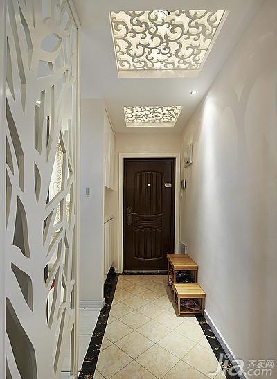 简约风格三居室110平米玄关吊顶设计图