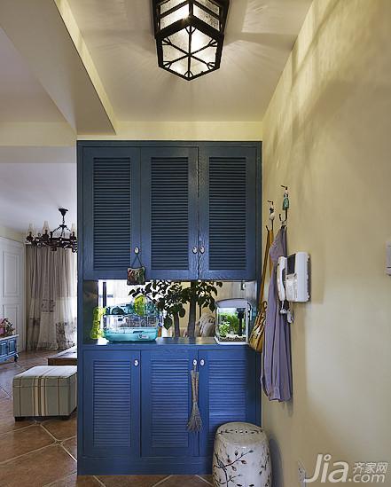 美式乡村风格二居室90平米隔断玄关柜图片