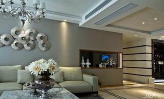 新古典风格二居室100平米沙发背景墙地砖效果图