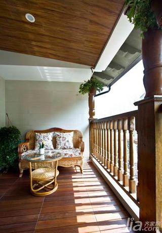 新古典风格二居室100平米阳台吊顶地板图片