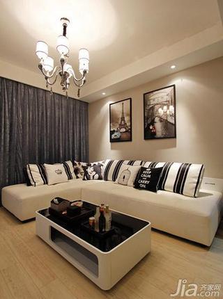 简约风格富裕型沙发婚房平面图