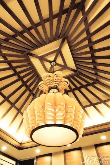 东南亚风格大户型豪华型客厅吊顶吊顶灯具效果图