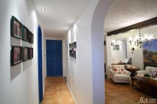 地中海风格三居室富裕型走廊婚房家装图