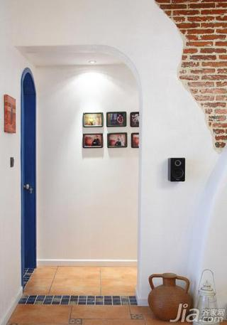 地中海风格三居室富裕型走廊婚房家装图片