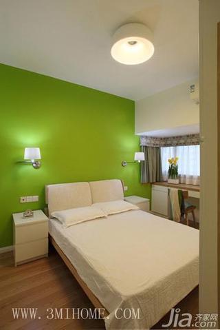 三米设计北欧风格小清新20万以上80平米卧室卧室背景墙效果图