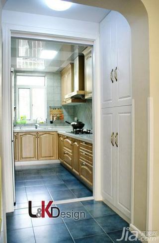 田园风格三居室90平米厨房设计图纸