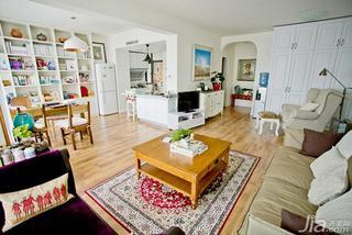 混搭风格大户型小清新富裕型客厅茶几效果图