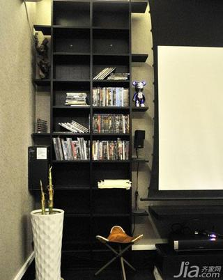 loft风格100平米书柜图片
