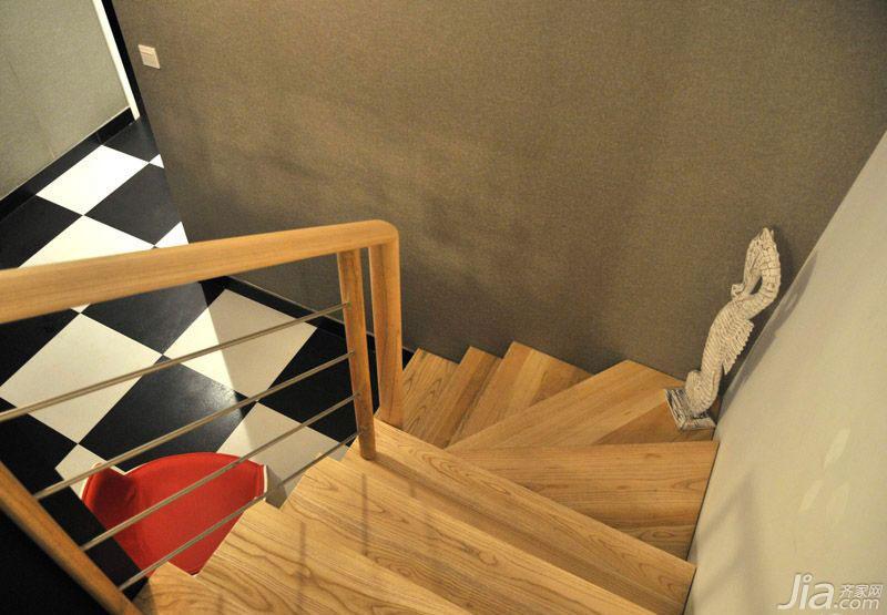 loft风格100平米楼梯装修效果图