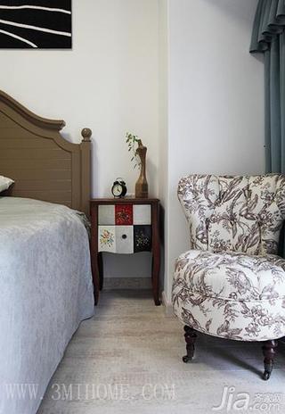三米设计混搭风格三居室小清新单人沙发图片