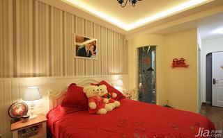 地中海风格复式140平米以上卧室卧室背景墙效果图