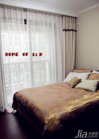 美式风格140平米以上卧室窗帘效果图