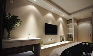 简约风格三居室110平米电视背景墙电视柜效果图