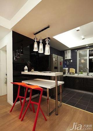 简约风格二居室80平米餐厅吧台设计图纸