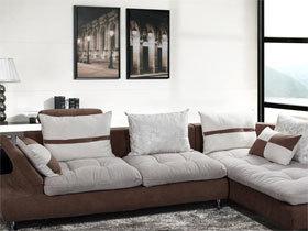 简约舒适 多功能布艺转角沙发