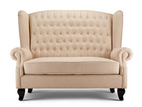 欧式风格彼卡蒂利暖色双人沙发