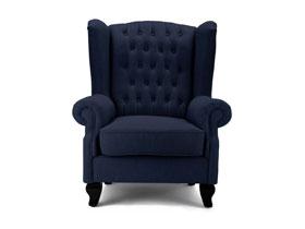 歐式風格彼卡蒂利深色時尚沙發椅