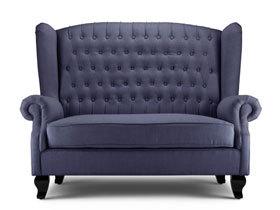 欧式风布艺两人沙发
