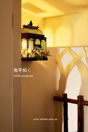 设计团队2部谷辰设计三居室装修 鬼手帕作品 挑高户型森林木屋随想 共图片