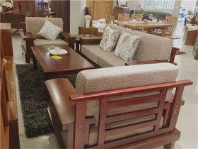 1+1+3榉木实木中式沙发