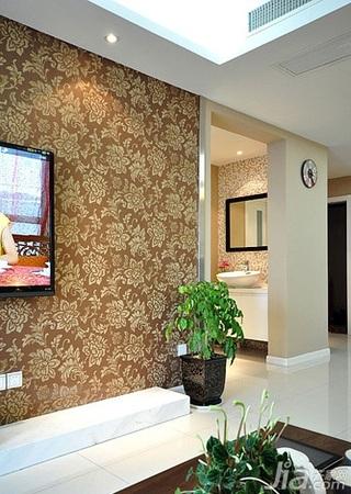 混搭风格二居室15-20万电视背景墙婚房家装图