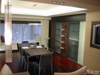 简约风格复式富裕型120平米餐厅餐桌新房家居图片