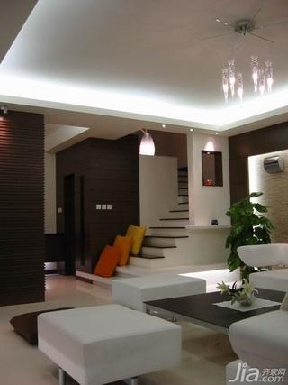简约风格复式富裕型120平米客厅楼梯新房家装图