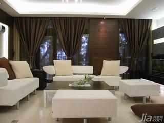 简约风格复式富裕型120平米客厅沙发新房设计图