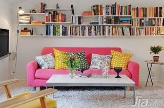 简约风格5-10万70平米客厅沙发背景墙沙发新房家装图片